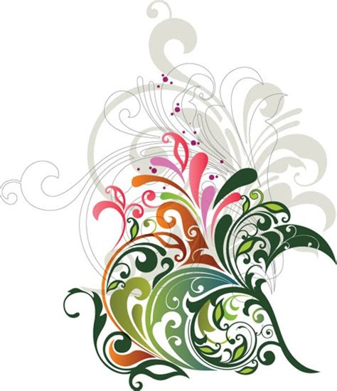 design flower school vector floral design element free vector graphics all