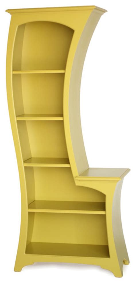 lemon bookcase yellow eclectic bookcases by
