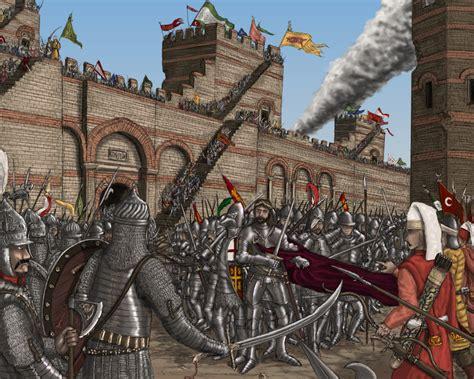Byzantine Ottoman Siege Of Constantinople Byzantine War Byzantine Ottoman Empire And History