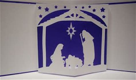 free nativity cricut three fold card template free nativity pop up card svg files cricut svg