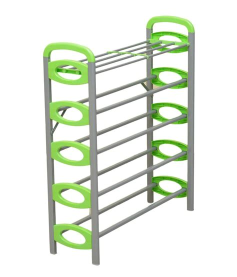 Shoe Rack With Price by Nilkamal Redley 5 Layer Iron Shoe Rack Green Available At