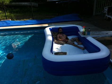 blow up pool bed pool 1 pool 2 outdoor waterbed pics
