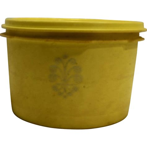 toile ceramic canister tupperware canisters also yellow tupperware servalier canister daffodil yellow 1298 13 from
