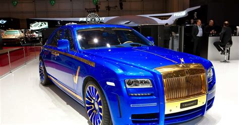 roll royce ghost blue mansory rolls royce ghost blue gold