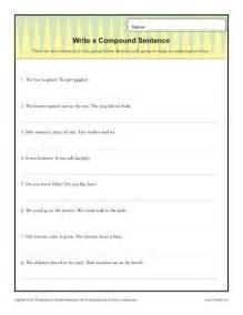 write a compund sentence simple sentences sentences and