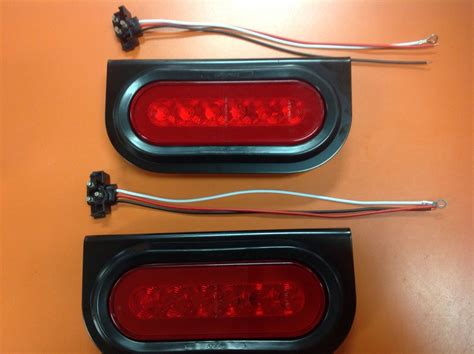 6 oval s t t led truck trailer brake light w