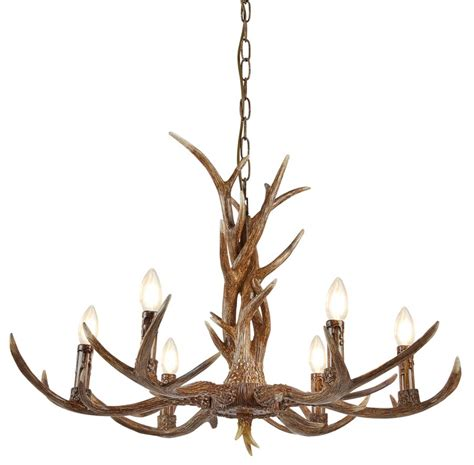 antler chandeliers and lighting company stag 6 light weathered antler style rustic chandelier 6416 6br