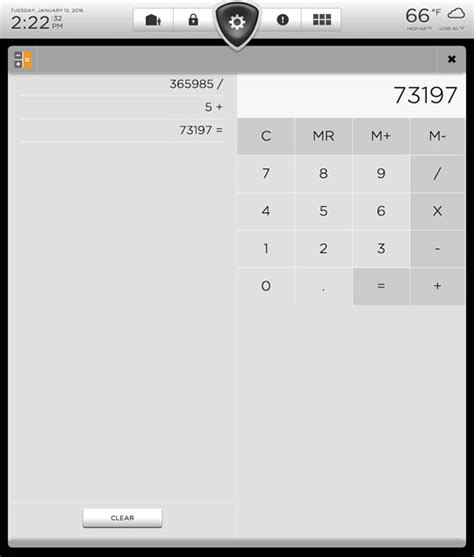 calculator full screen eve for tesla premier dashboard experience for your