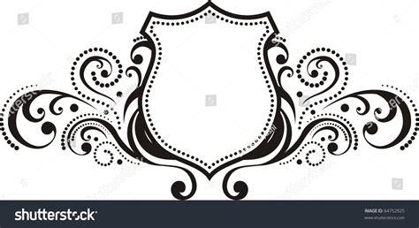 design of frame vector crest vintage style design elements use stock vector