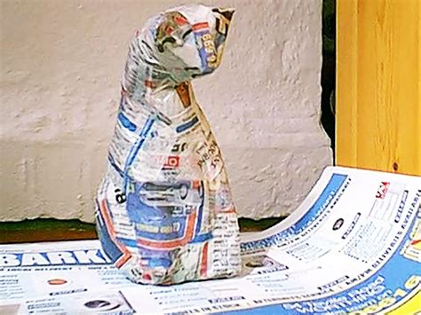 How To Make A Paper Mache Cat - eco friendly crafts three easy cheap ideas for