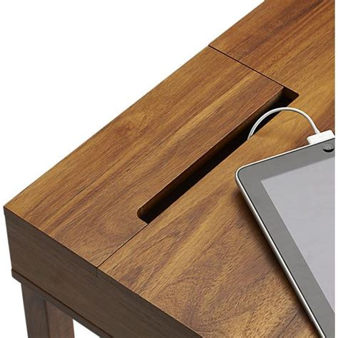 Myrene S Desk Grommet Option Leather Trim Storage Desk Office Desk Grommet