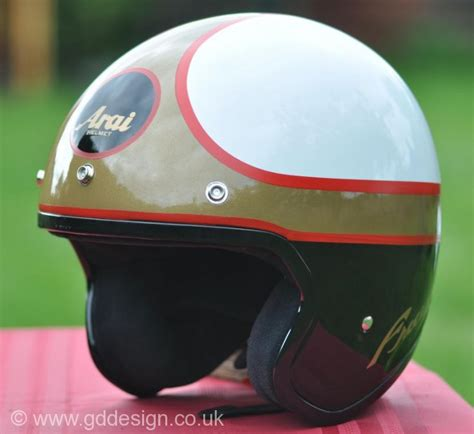Handmade Motorcycle Helmets - custom motorcycle helmet paintwork in northton gd design