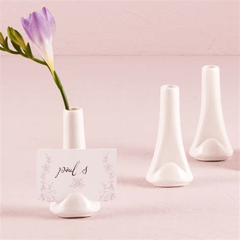 Vase Wedding Favors by Mini Vase And Place Card Holders 6 Pcs Garden Theme