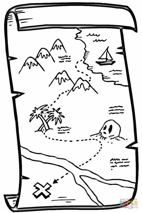 treasure map coloring online super coloring