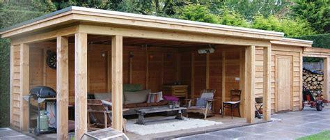 veranda zwart hout vrijstaande veranda met plat dak www superveranda nl