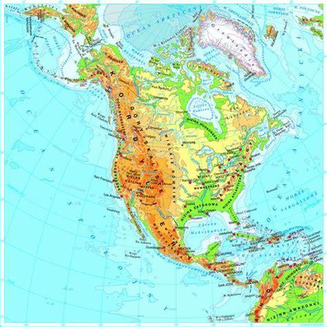 usa mapa fizyczna usa na mapach cuda przyrody stan 243 w zjednoczonych