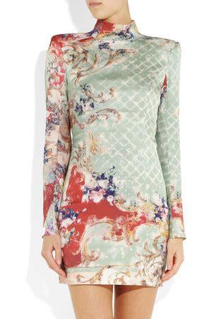 Silk Printed Silk Dress Intl buy collins balmain dress at tiff writers premiere