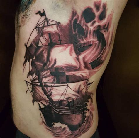 ghost ship tattoo designs 50 amazing ship tattoos you won t believe are real