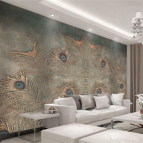 custom photo wallpaper  walls  chinese style peacock