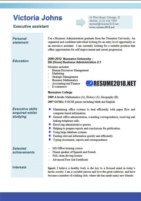 executive resume format 2018 executive assistant resume exles 2018 resume 2018
