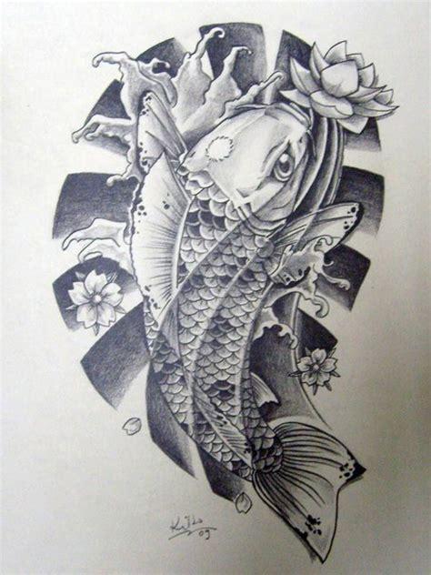 oriental tattoo black and white black n white japanese koi by edilsonr74 on deviantart