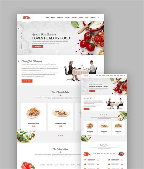 18 Best Responsive Restaurant Food Website Templates Restaurant Website Template With Ordering