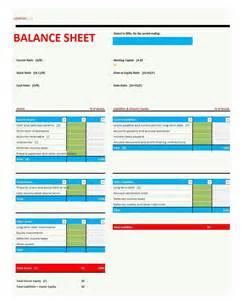 Template Balance Sheet by 38 Free Balance Sheet Templates Exles Template Lab
