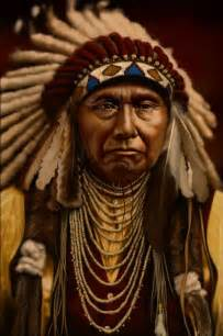Photo native american indian mountain chief fine art poster