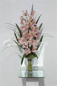 Tall Wedding Centerpieces by Large Pink Cymbidium Orchid Floral Home Arrangement Vase