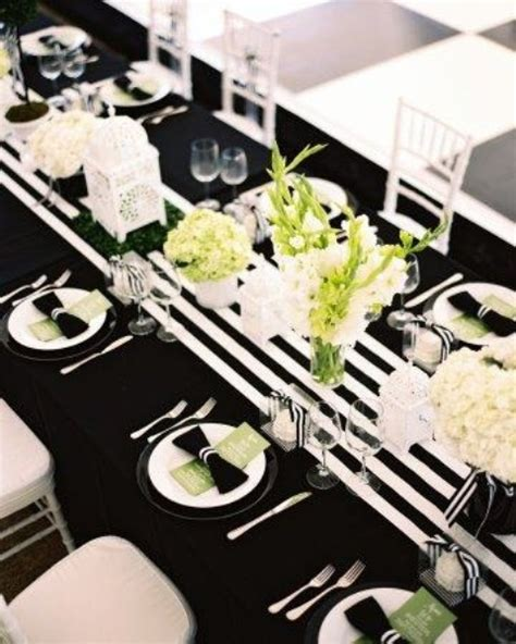 black and white table setting 52 elegant black and white wedding table settings