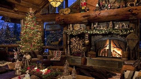 christmas decor fireplace cabin christmas stuff pinterest