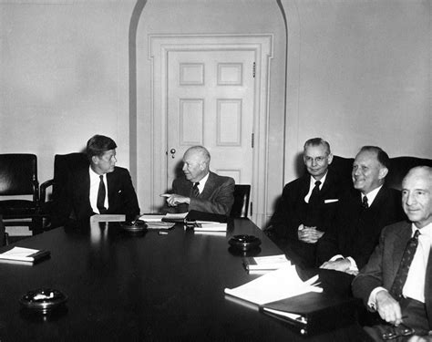 Dwight Eisenhower Cabinet Members by Ar6279 B President Elect F Kennedy And President