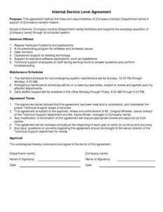 Internal Service Level Agreement Template 31 sample agreement templates in microsoft word