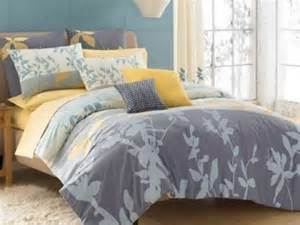 kas maysun grey yellow blue comforter set