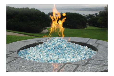 glass rock pit pit glass rocks fireplace design ideas