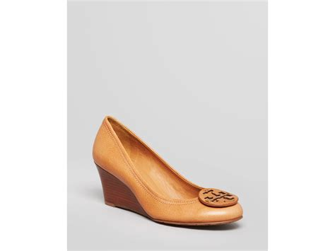 Wedges On 02 2 burch wedge pumps sally closed toe in brown lyst