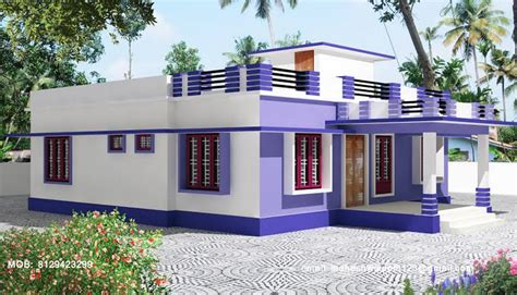 3 Bedroom 2 Bathroom House Plans by Kerala Single Story House Model Home Design