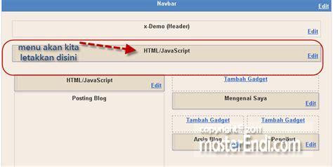 membuat menu header html cara membuat menu dibawah header blog gali potensi