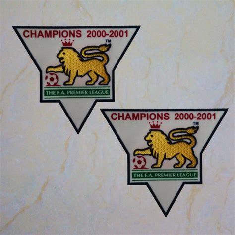 premier league chion 2000 2001 sleeve gold patch badge manunited jersey timix