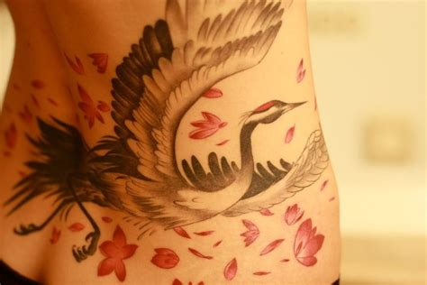 japanese crane tattoo designs japanese crane by grizzly tattoos and