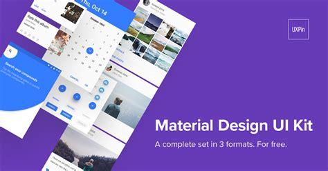 material design free ui kit material design ui kit free