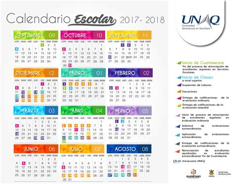 calendario sep 2017 unaq calendario escolar