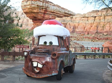 cars land gets gussied up for the holidays at disney california adventure park my take on disney