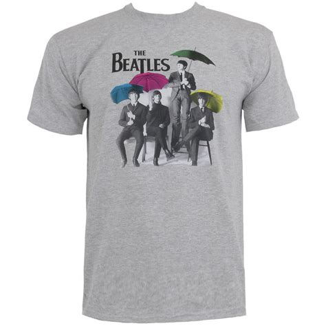 Tshirt Umbrella the beatles umbrella t shirt grey blue banana uk