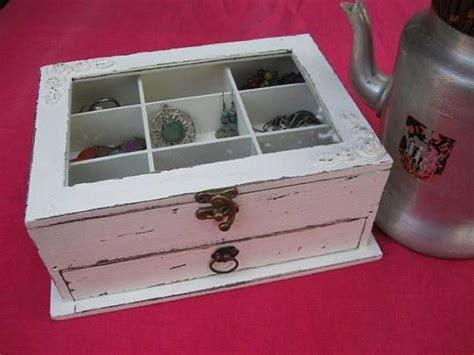 shabby chic jewelry cabinet best 25 wooden jewelry boxes ideas on diy