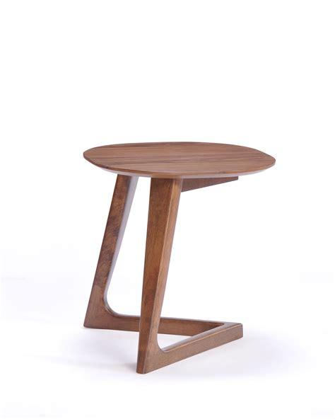 modrest jett mid century walnut end table