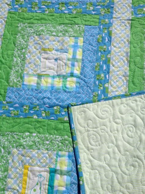 Puzzle Tombol Farm Fence Windmill handmade baby quilts for sale from carolyn s homesewn in