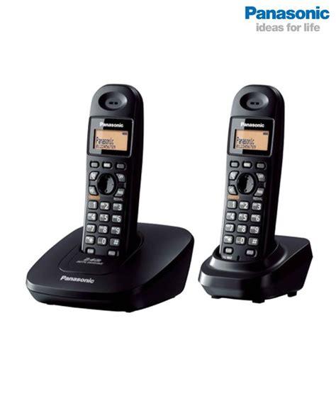 Panasonic Cordless Wireless Phone Kx Tg3612 panasonic kx tg3612 dual cordless phone 3 way conference intercom speaker phone ebay