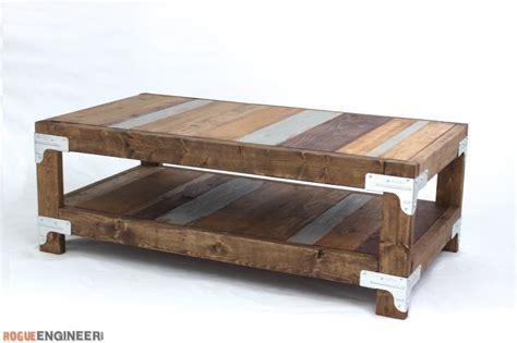 industrial design coffee table industrial coffee table free diy plans rogue engineer