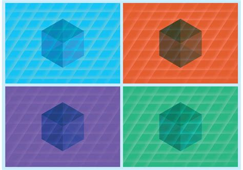 3d cube vector backgrounds free vector